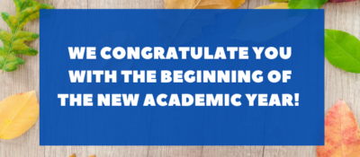 Congratulations on the beginning of the new academic year!